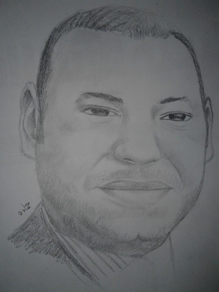 Photo of محمد السادس ملك المغرب / الرسام الصغير حمادة عثمان
