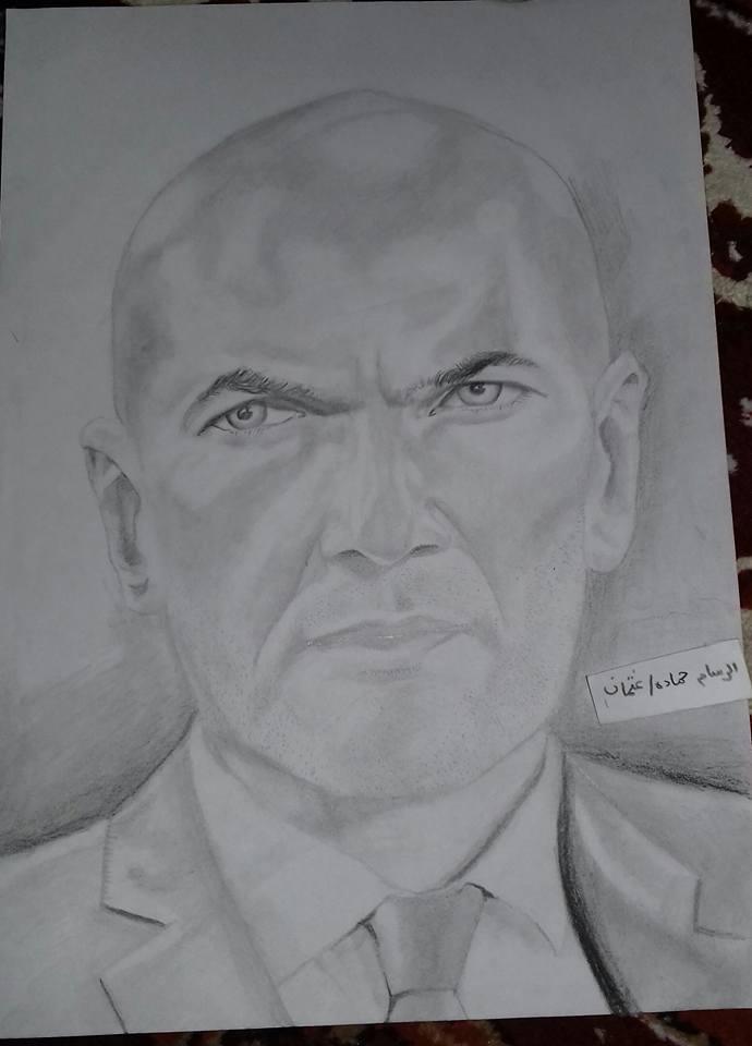 Photo of زين الدين زيدان / الرسام الصغير حمادة عثمان